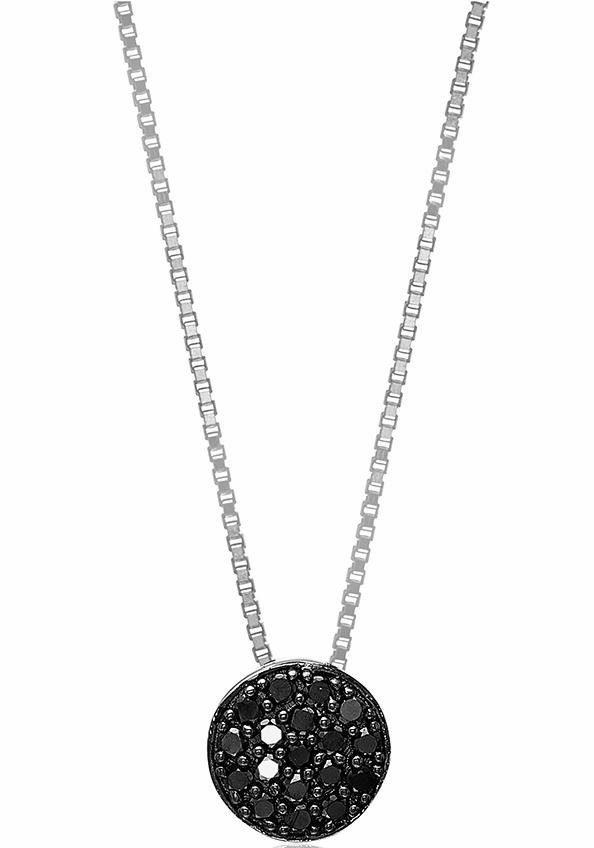 Sif Jakobs Jewellery Kette mit Anhänger »SACILE, SJ-P2071-BK/45« mit Zirkonia