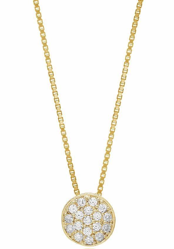Sif Jakobs Jewellery Kette mit Anhänger »SACILE, SJ-P2071-CZ(YG)/45« mit Zirkonia