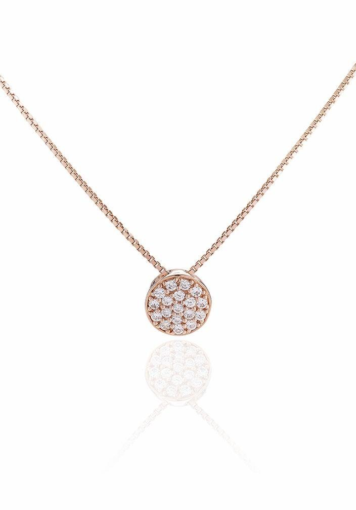 Sif Jakobs Jewellery Kette mit Anhänger »SACILE, SJ-P2071-CZ(RG)/45« mit Zirkonia