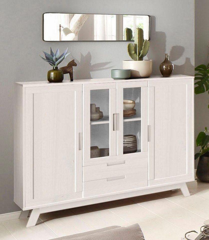 home affaire highboard ohio im traditionellem design mit vielen gro z gigen. Black Bedroom Furniture Sets. Home Design Ideas