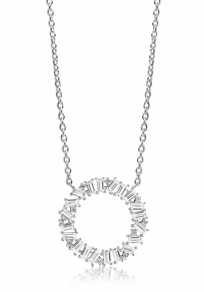 Sif Jakobs Jewellery Kette mit Anhänger »ANTELLA CIRCOLO, SJ-C1063-CZ« mit Zirkonia