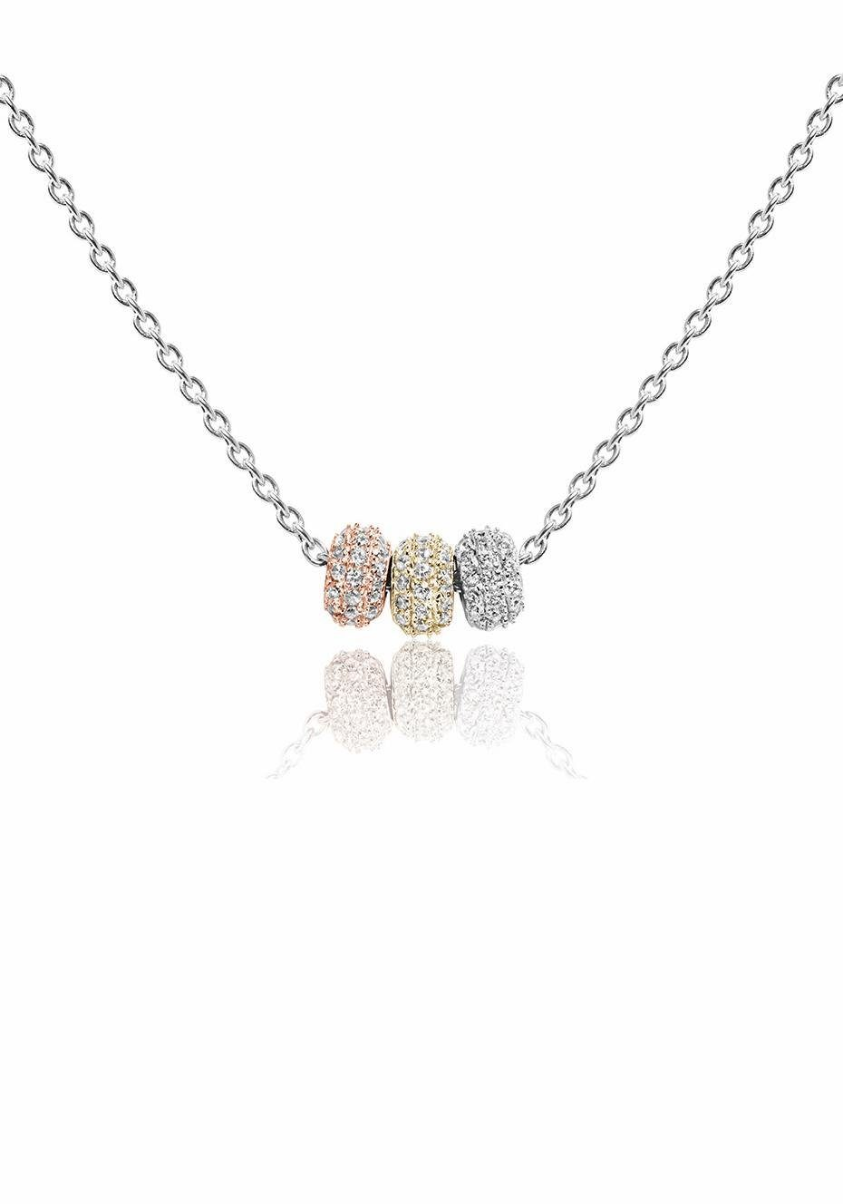 Sif Jakobs Jewellery Kette mit Anhänger »LARIANO, SJ-C0159-CZ(SRY)« mit Zirkonia