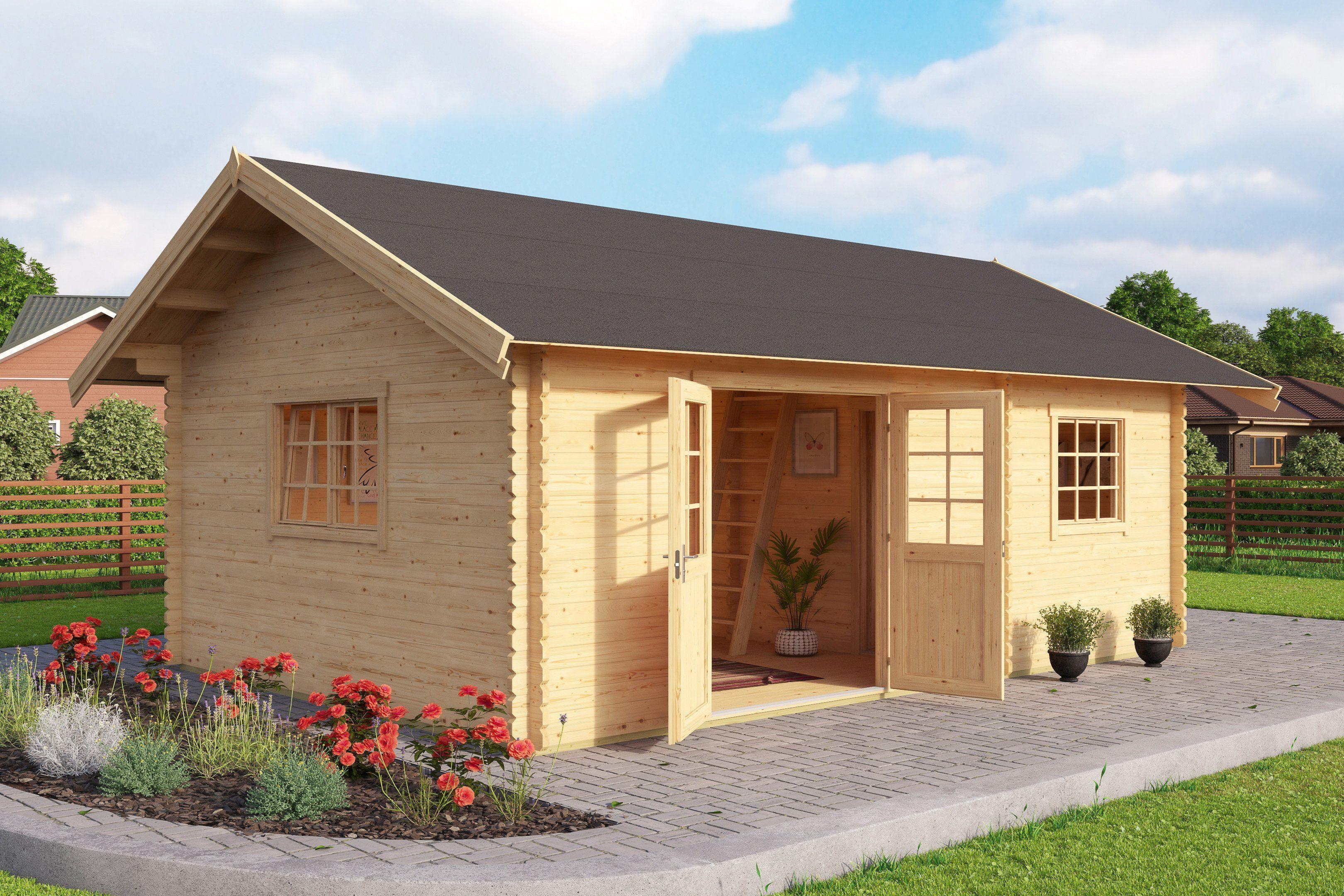 Gartenhaus »Colorado«, Gesamtmaß (BxT): 595x410 cm