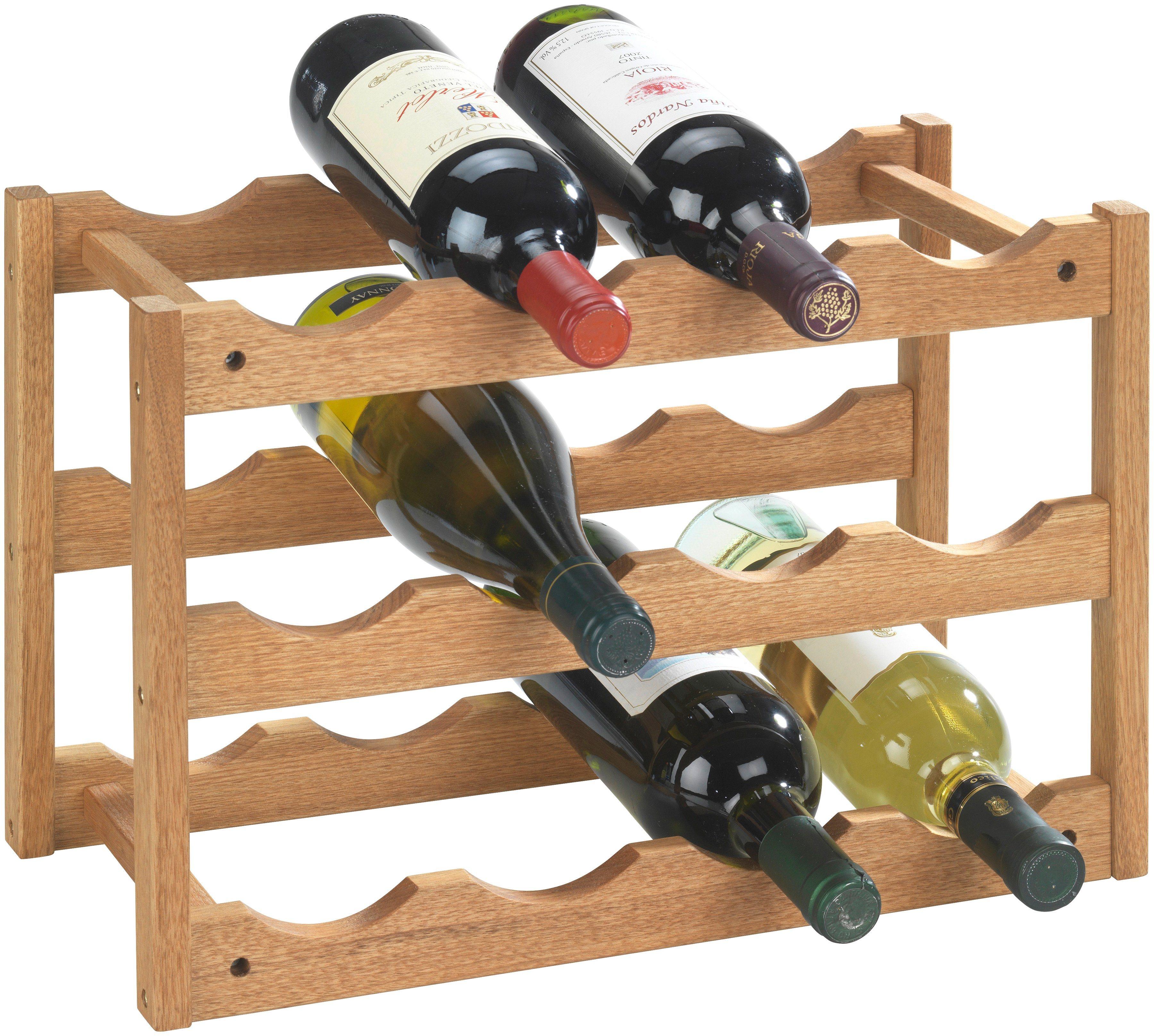 Set: WENKO Weinregal »Norway«, 2er-Set, für bis zu 24 Weinflaschen   Küche und Esszimmer > Küchenregale > Weinregale   Massivholz   WENKO