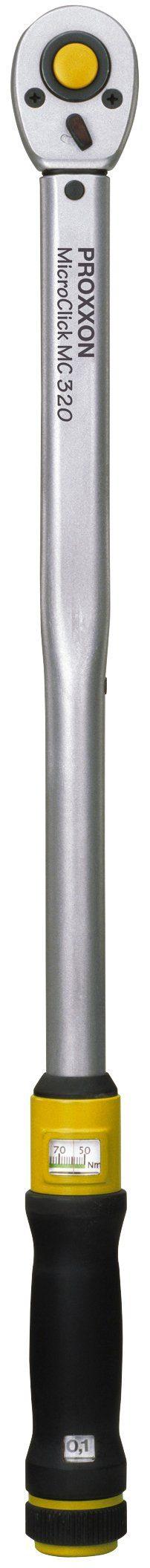 """PROXXON Drehmomentschlüssel »MicroClick MC 320, 60 - 320 Nm, 1/2""""«"""