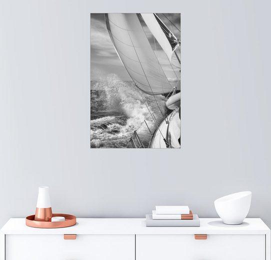 Posterlounge Wandbild - Jan Schuler »Segeln schwarz /weiss«