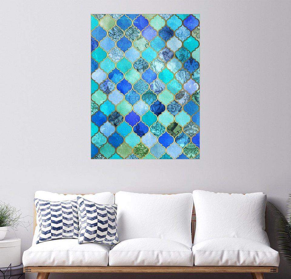 Fliesen Wildes Muster: Micklyn Le Feuvre »Cobalt Blue