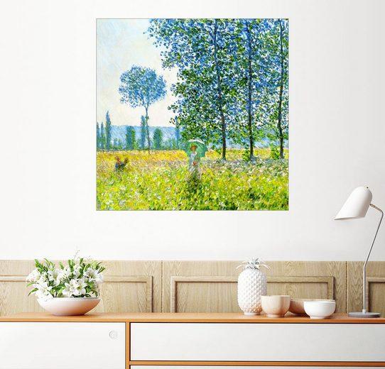 Posterlounge Wandbild - Claude Monet »Felder im Frühling«