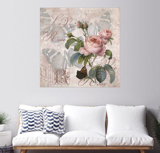 Posterlounge Wandbild - Andrea Haase »La vie en rose«