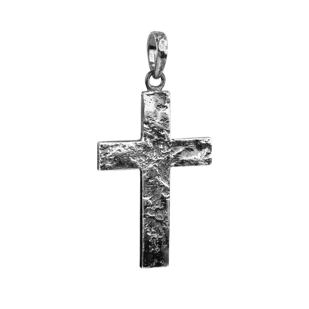 Kuzzoi Kreuzanhänger, Oxidierter Kreuz Anhänger für stärkere Ketten