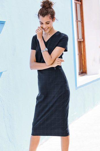 Next Figurbetontes Kleid mit Karomuster