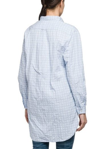 Replay Klassische Bluse mit Streifen und Sternen, Schulterpasse