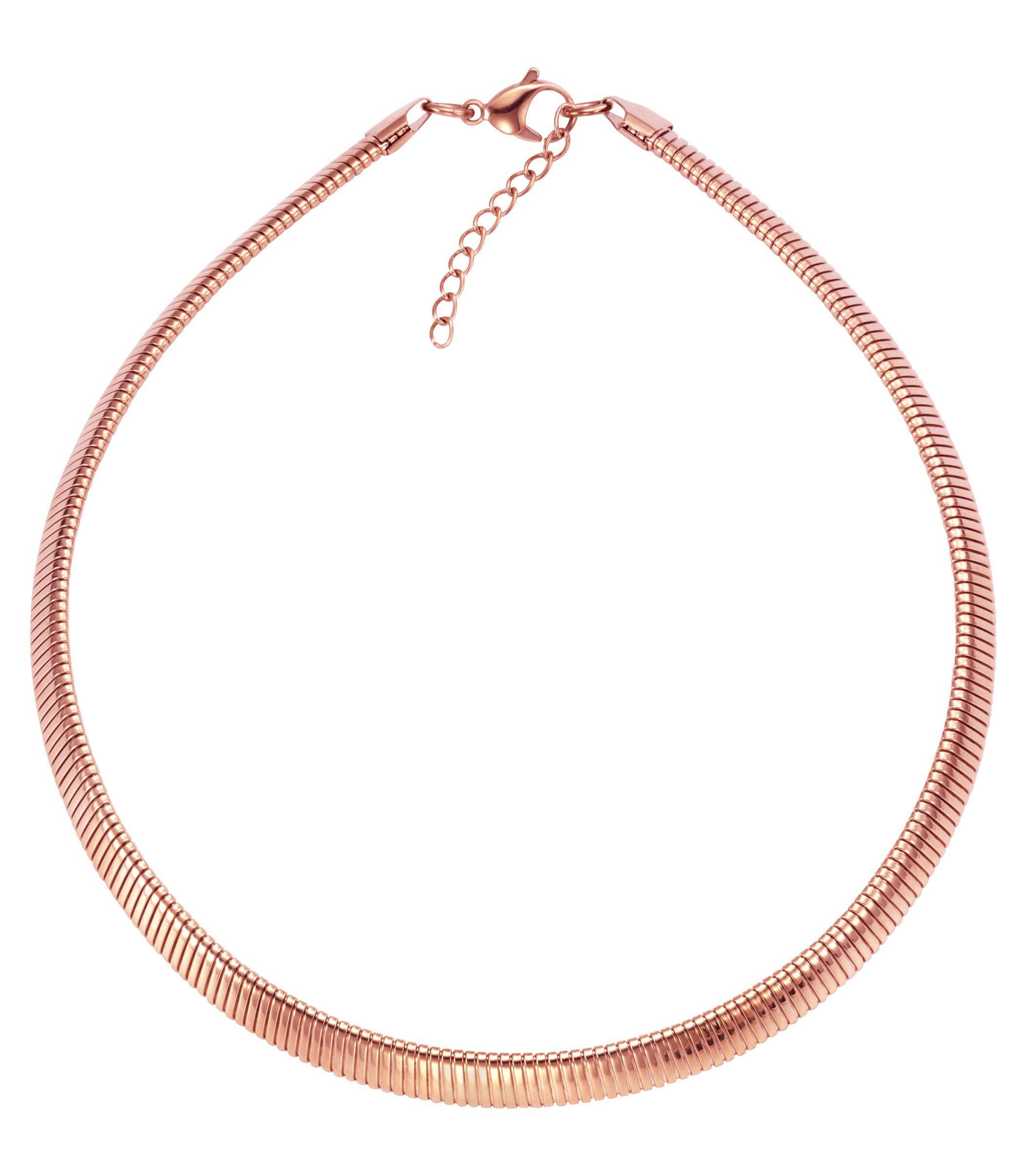 Firetti Collier »Edelstahl Spirale flach in rosè 10mm breit«