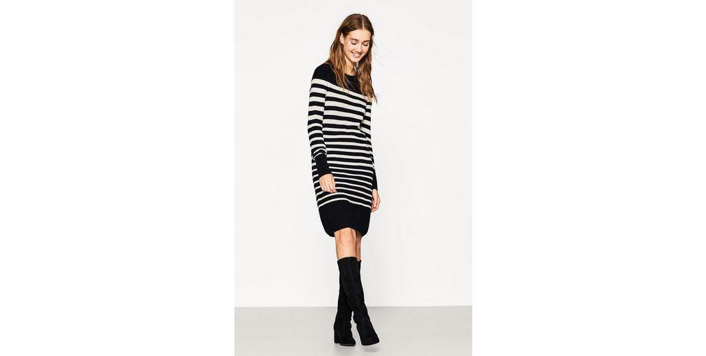 Freies Verschiffen Exklusiv Perfekte Online-Verkauf EDC BY ESPRIT Gestreiftes Strick-Kleid mit Wolle Spielraum Große Überraschung 8qlW35