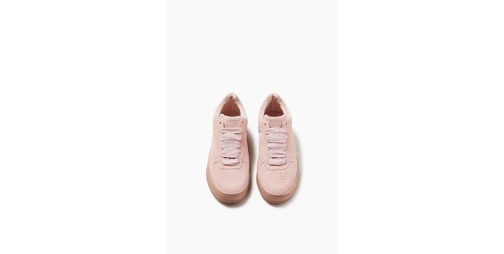 ESPRIT Sportiver Trend-Sneaker aus Veloursleder Pay Online Mit Visa-Verkauf DE5oHu1cZ