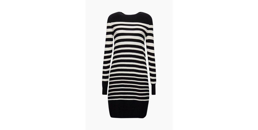 Sammlungen Online-Verkauf Ansehen Günstig Online EDC BY ESPRIT Gestreiftes Strick-Kleid mit Wolle Perfekte Online-Verkauf Spielraum Große Überraschung Niedrig Versandkosten Für Verkauf zg88wR
