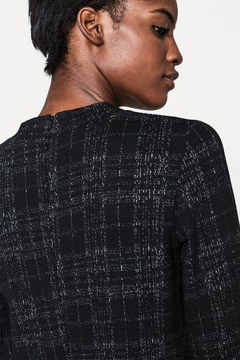 ESPRIT Kleid aus strukturiertem Jersey mit A-Linie