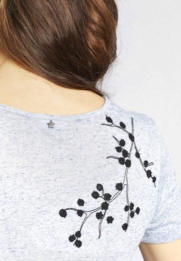 Khujo Crew-neck Shirt Isla In Melange Optic