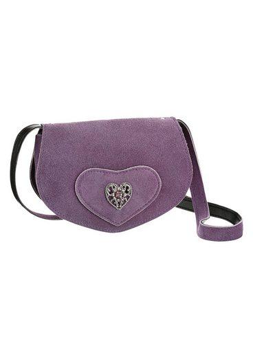 KABE Leder-Accessoires Trachtentasche mit Herzapplikation