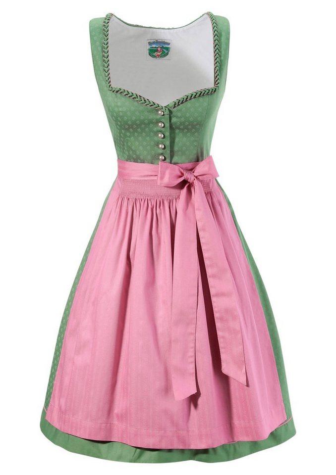 Damen Turi Landhaus Dirndl midi mit herzförmigem Ausschnitt grün | 04012043935771