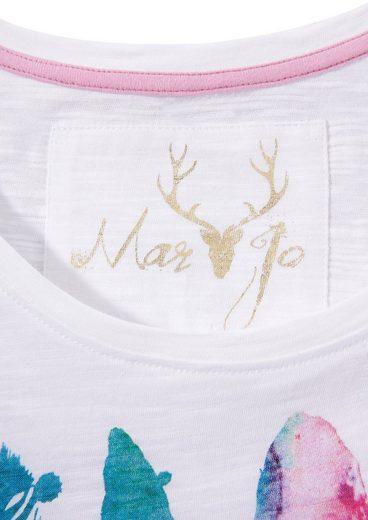 Marjo Trachtenshirt Damen mit Strasssteinen