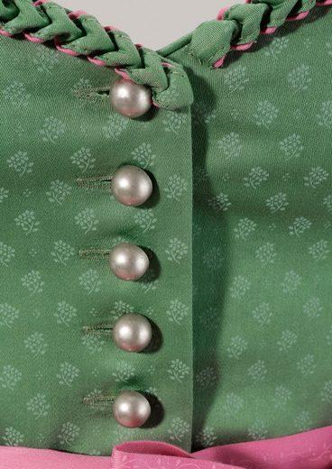Turi Landhaus Dirndl midi mit herzförmigem Ausschnitt