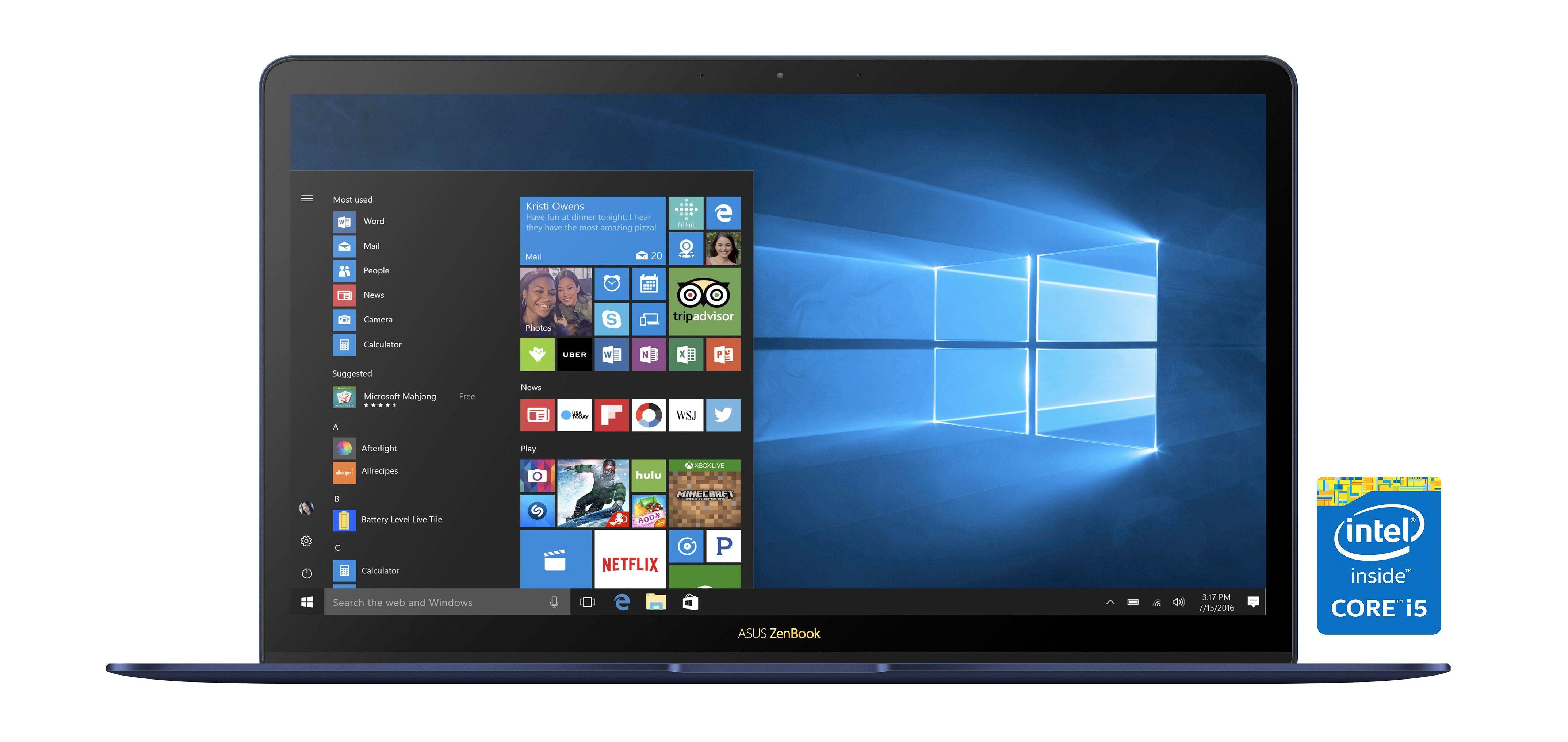 Asus Notebook/Ultrabook »ZENBOOK 3 DELUXE I5-7200U 2.5G«