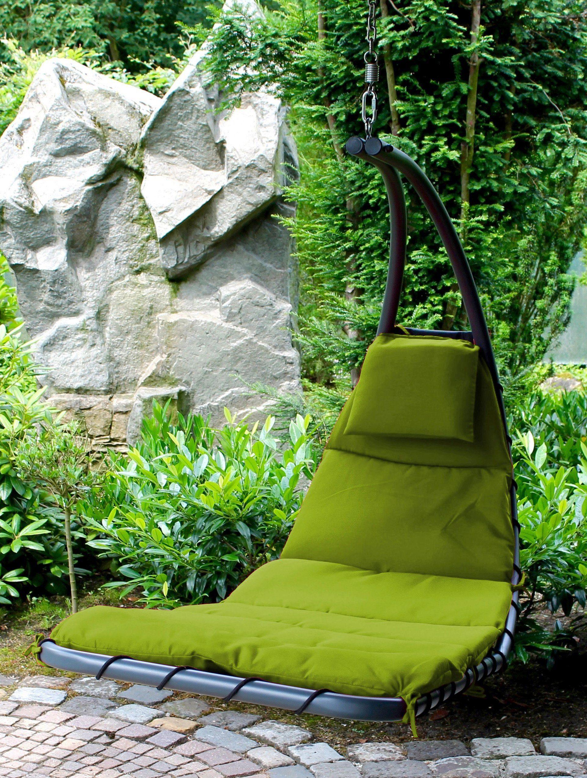 LECO Gartenliege »Hängeliege Dream«, Stahl/Textil, grün, inkl. Auflage