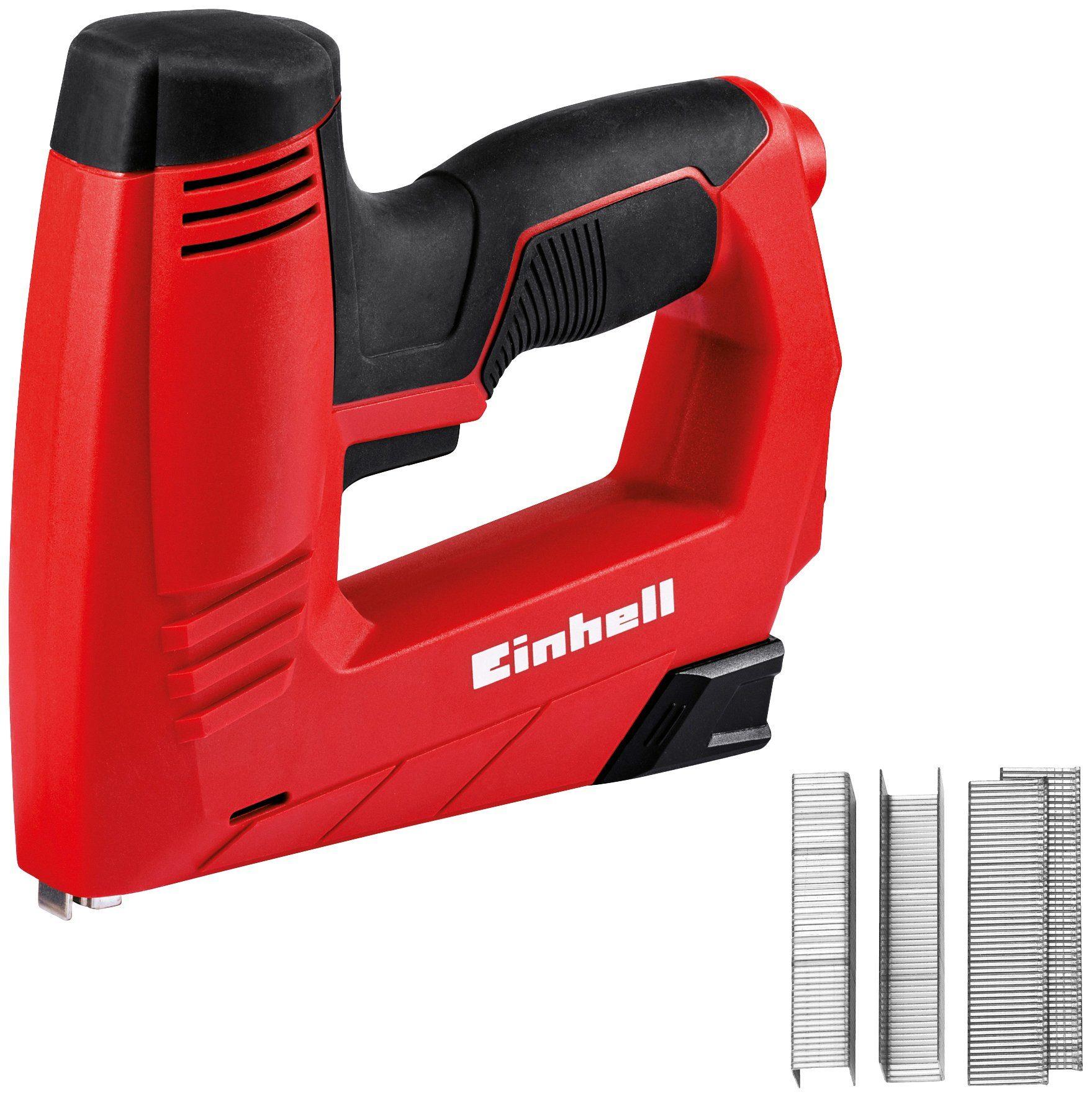 EINHELL Elektro-Tacker »TC-EN 20 E«, Inkl. 1000 Klammern und 500 Nägeln