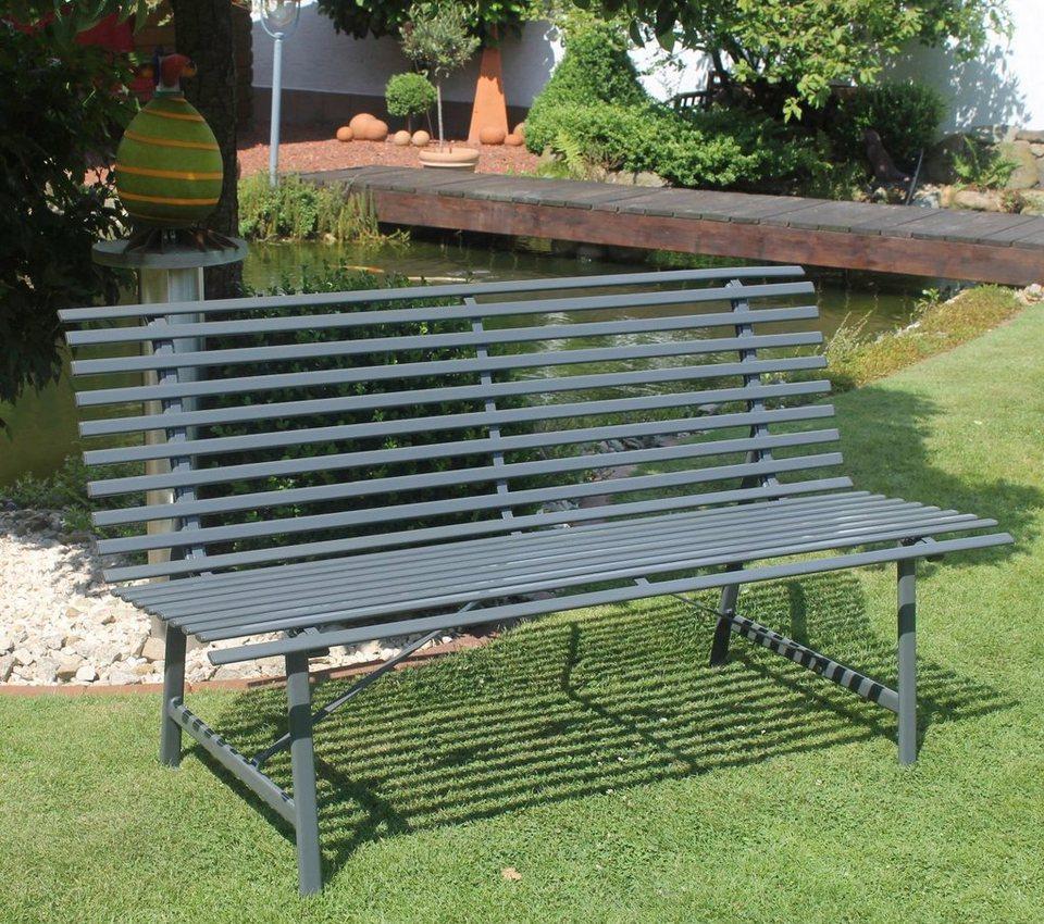 leco gartenbank stahl 150x62x81 cm grau kaufen otto. Black Bedroom Furniture Sets. Home Design Ideas