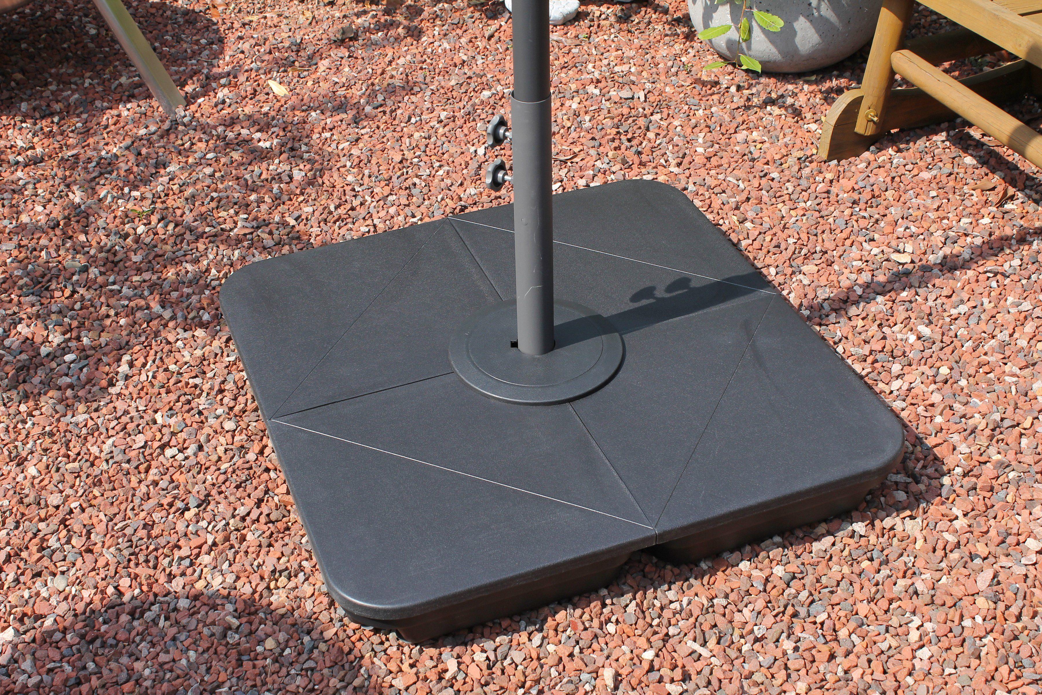 LECO Einlegeplatte , 4-tlg., Kunststoff, für Kreuzschirmständer Ø 83 mm
