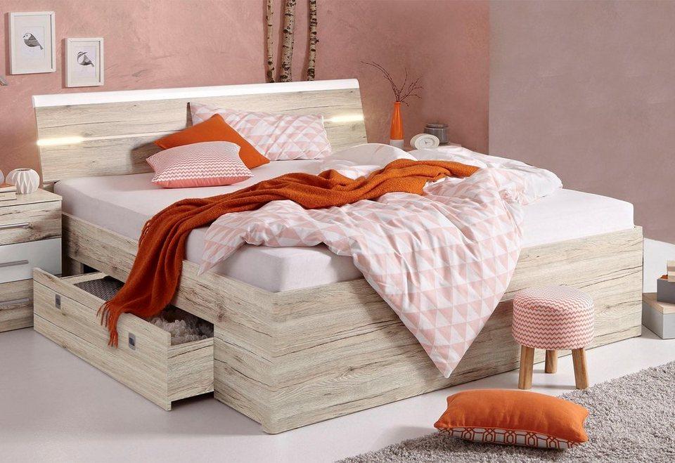 stauraumbett bett inkl 2 schubk sten online kaufen otto. Black Bedroom Furniture Sets. Home Design Ideas