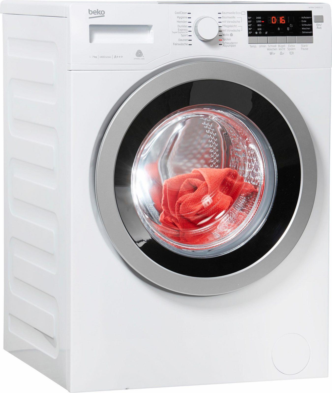 BEKO Waschmaschine WYAW 714831 LS, 7 kg, 1400 U/Min jetztbilligerkaufen