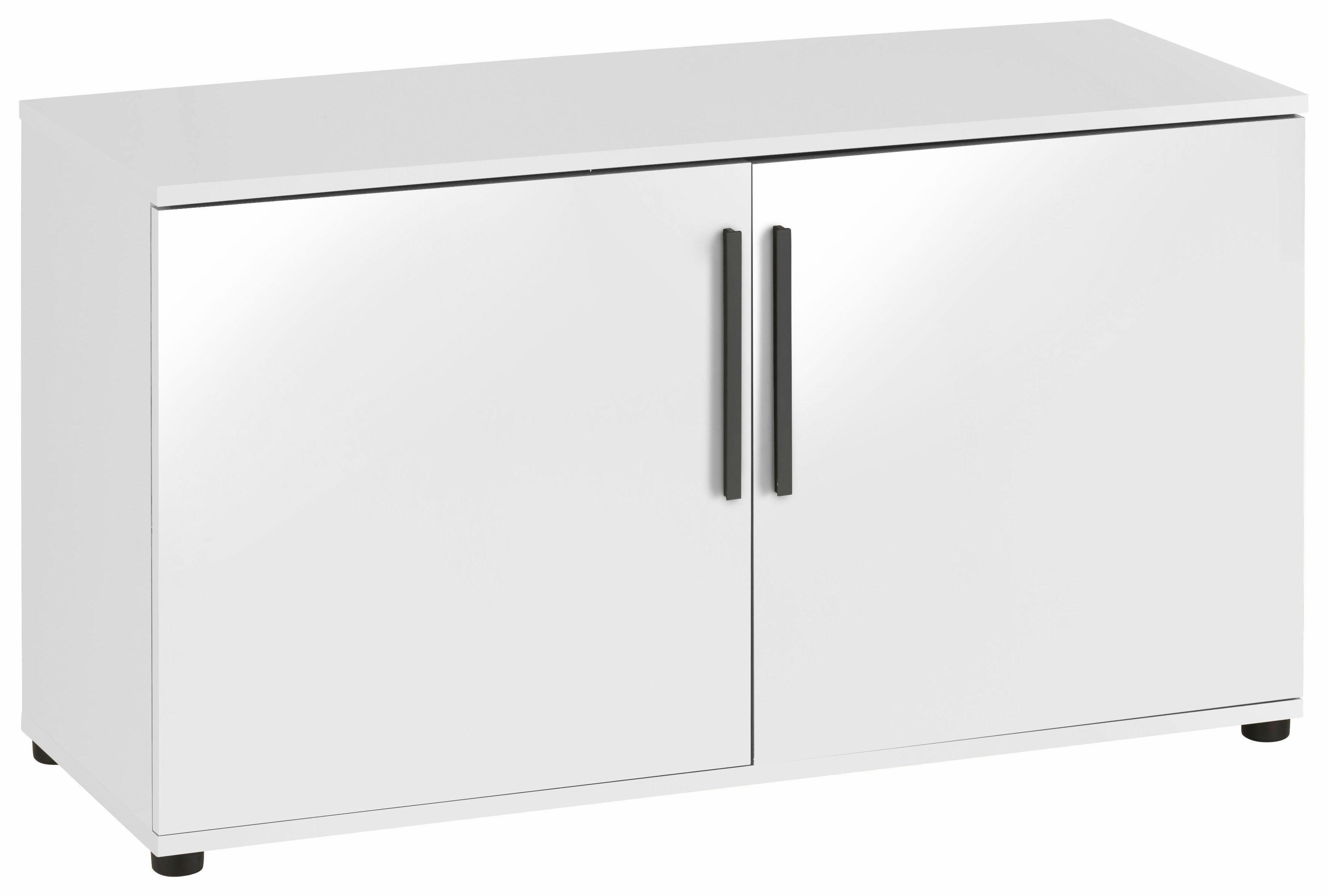 Kommode »Akron«, Breite 95 cm | Wohnzimmer > Schränke > Kommoden | Anthrazit - Weiß - Glanz
