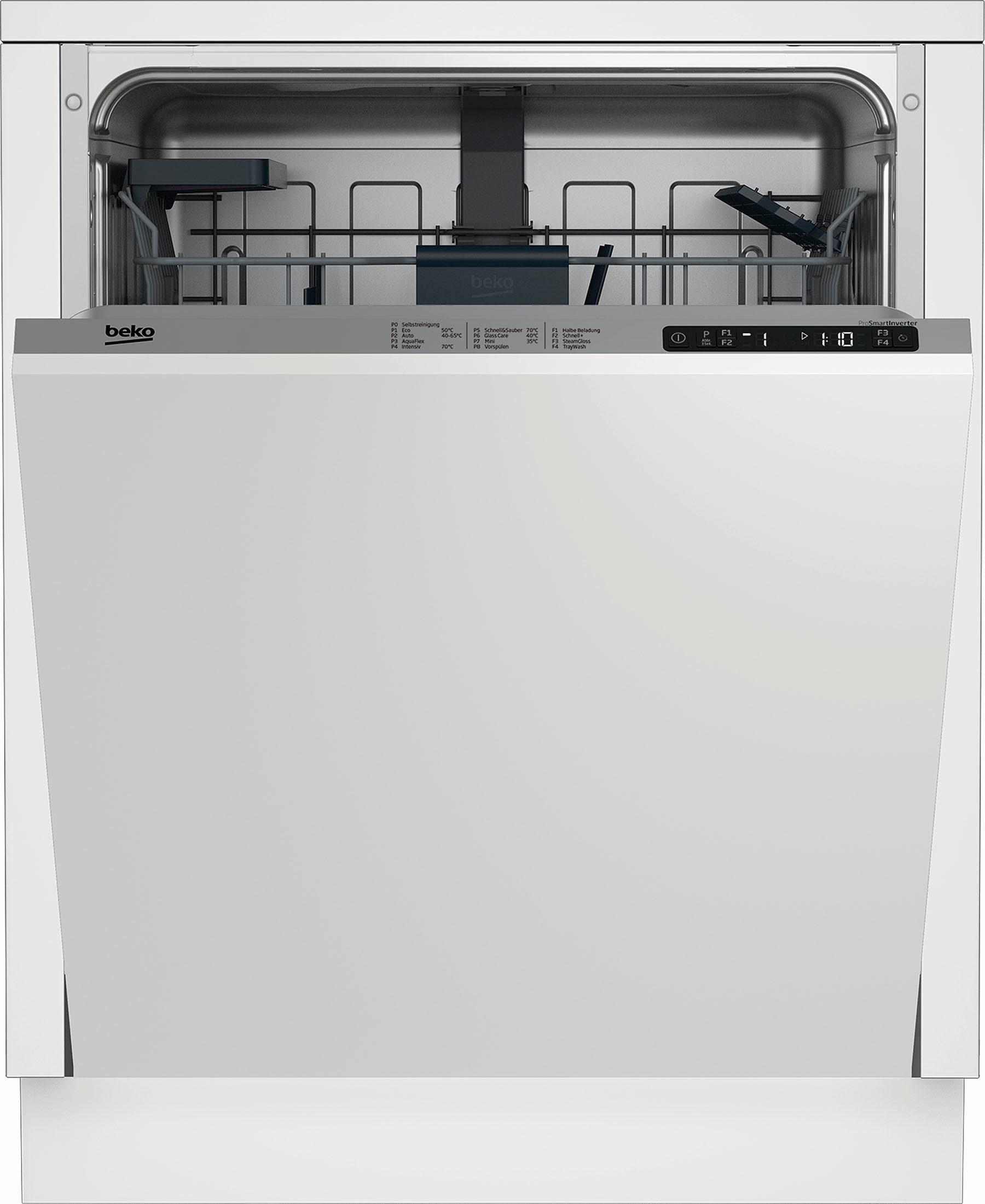 BEKO vollintegrierbarer Geschirrspüler, DIN28O35, 9,5 l, 14 Maßgedecke, Energieeffizienzklasse A+++