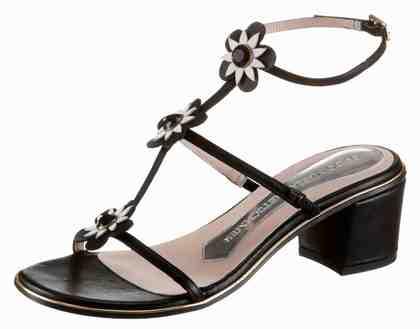 GUIDO MARIA KRETSCHMER Sandalette, mit Blüten und funkelnden Schmucksteinen