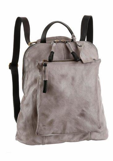 A.S.98 Cityrucksack, vegetabil gegerbtes Leder, kann auch als Crossbody Bag getragen werden