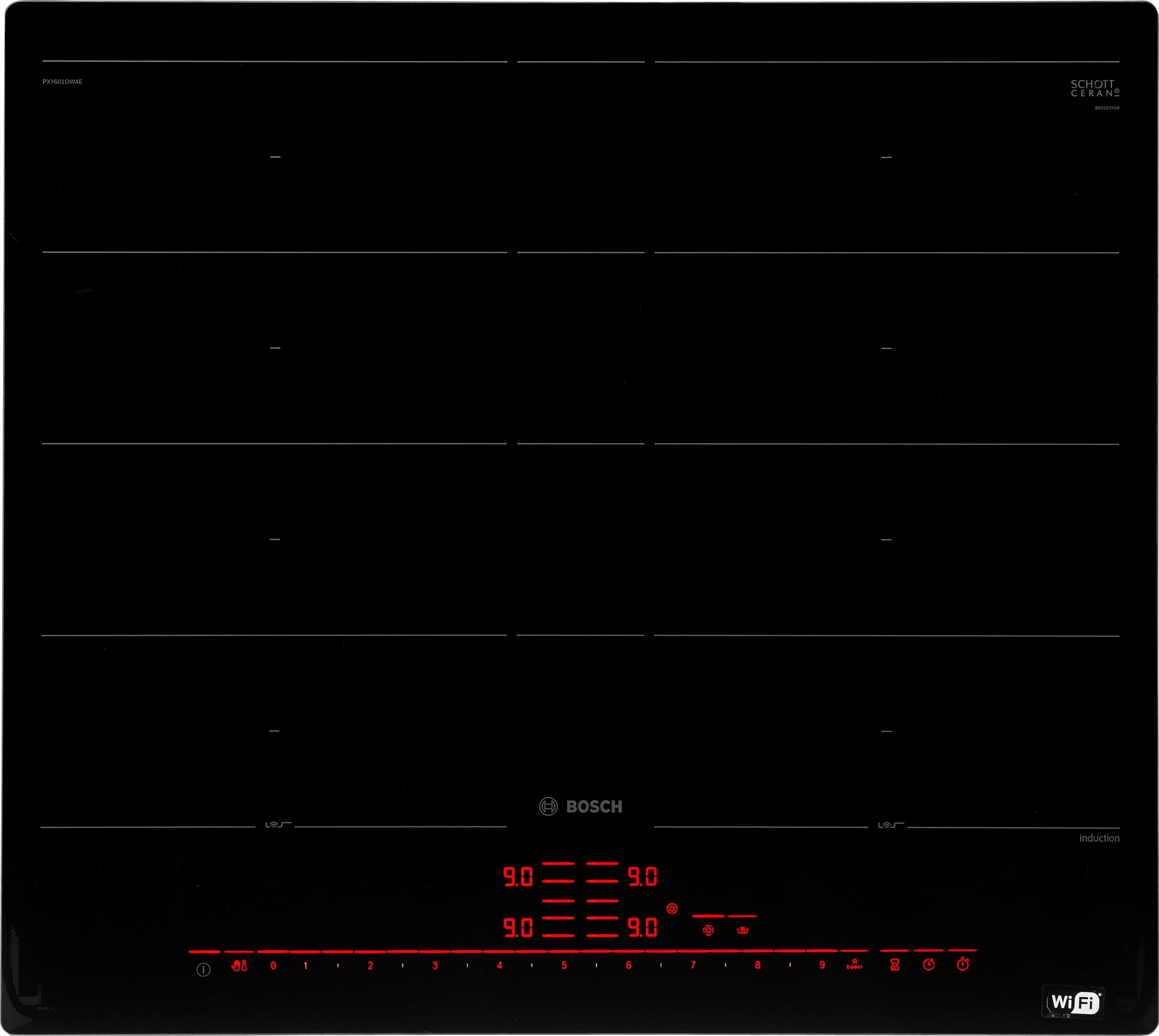 BOSCH Flex-Induktions-Kochfeld PXY601DW4E, mit DirectSelect Premium