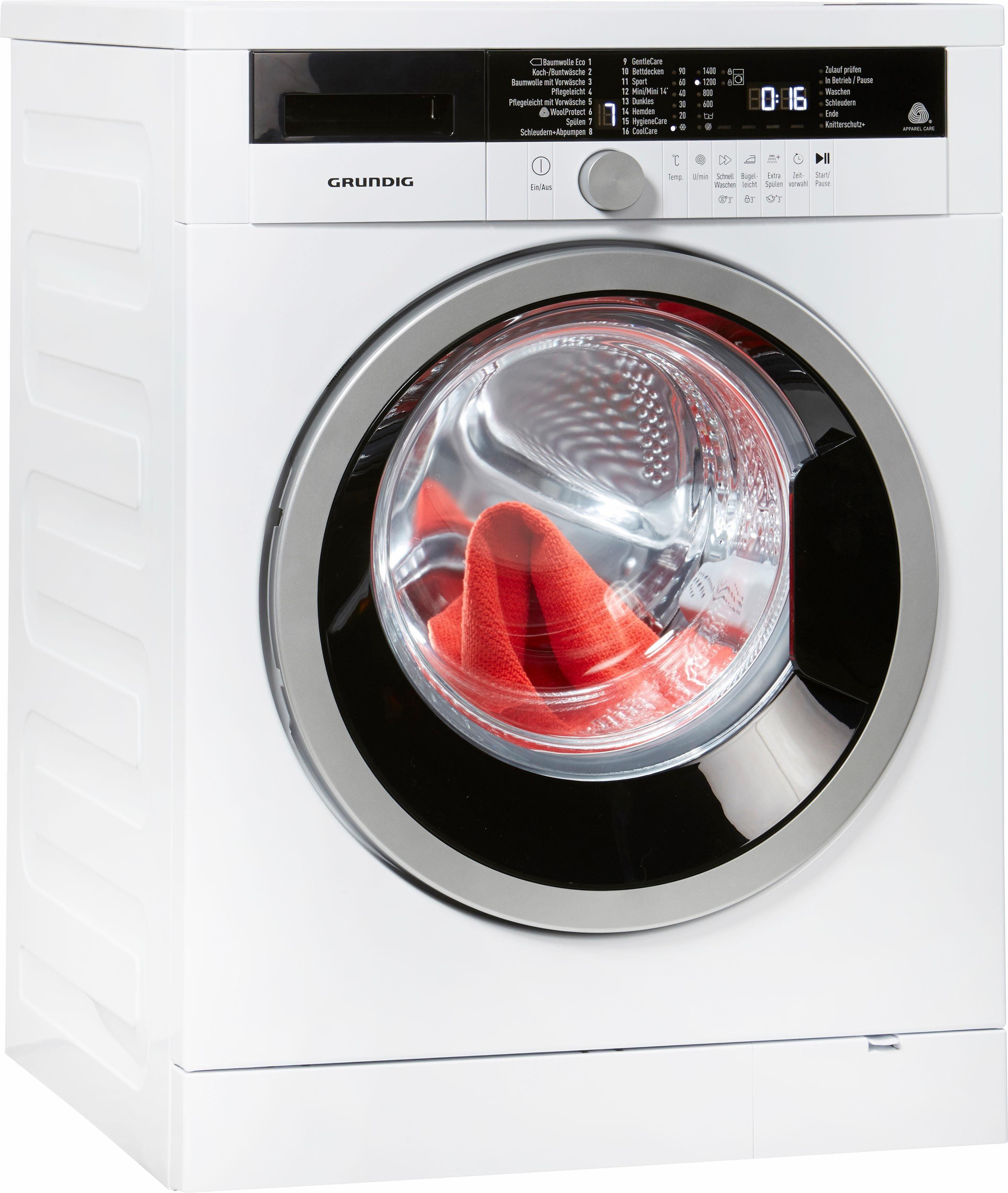 Grundig Waschmaschine GWW 384311, 8 kg, 1400 U/Min