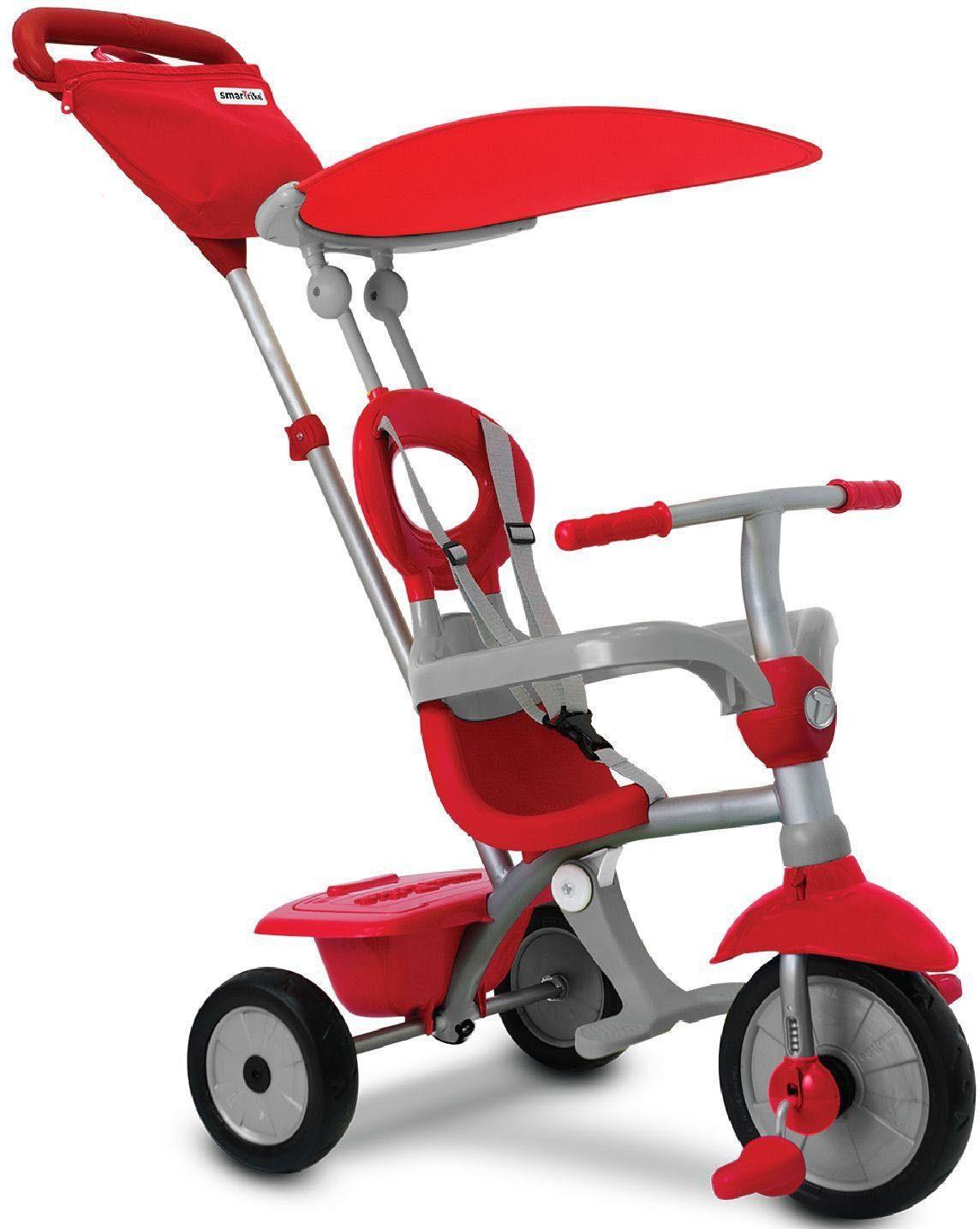 SmarTrike® Dreirad mit hoher Rückenlehne, »Zip Plus, rot grau«