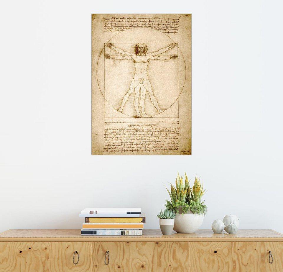 Posterlounge Wandbild - Leonardo da Vinci »Vitruvianischer Mensch«,  hochqualitativer Direktdruck online kaufen | OTTO