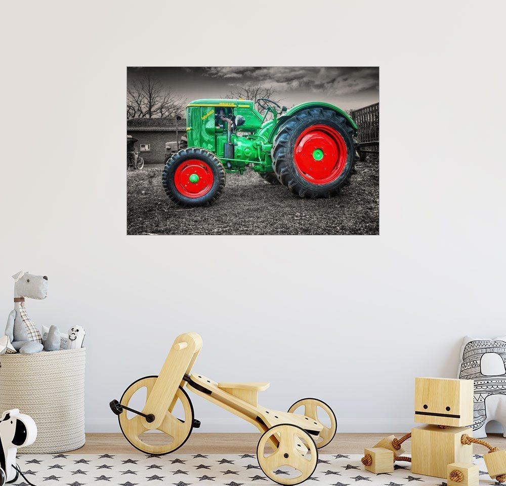 Posterlounge Wandbild - Peter Roder »Deutz Traktor Oldtimer« | Dekoration > Bilder und Rahmen > Bilder | Holz | Posterlounge