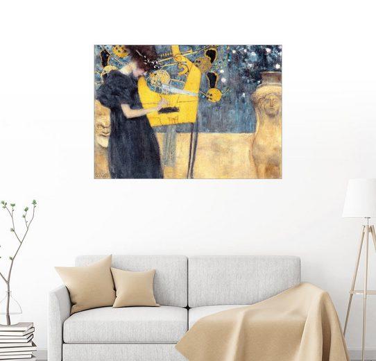Posterlounge Wandbild - Gustav Klimt »Die Musik«