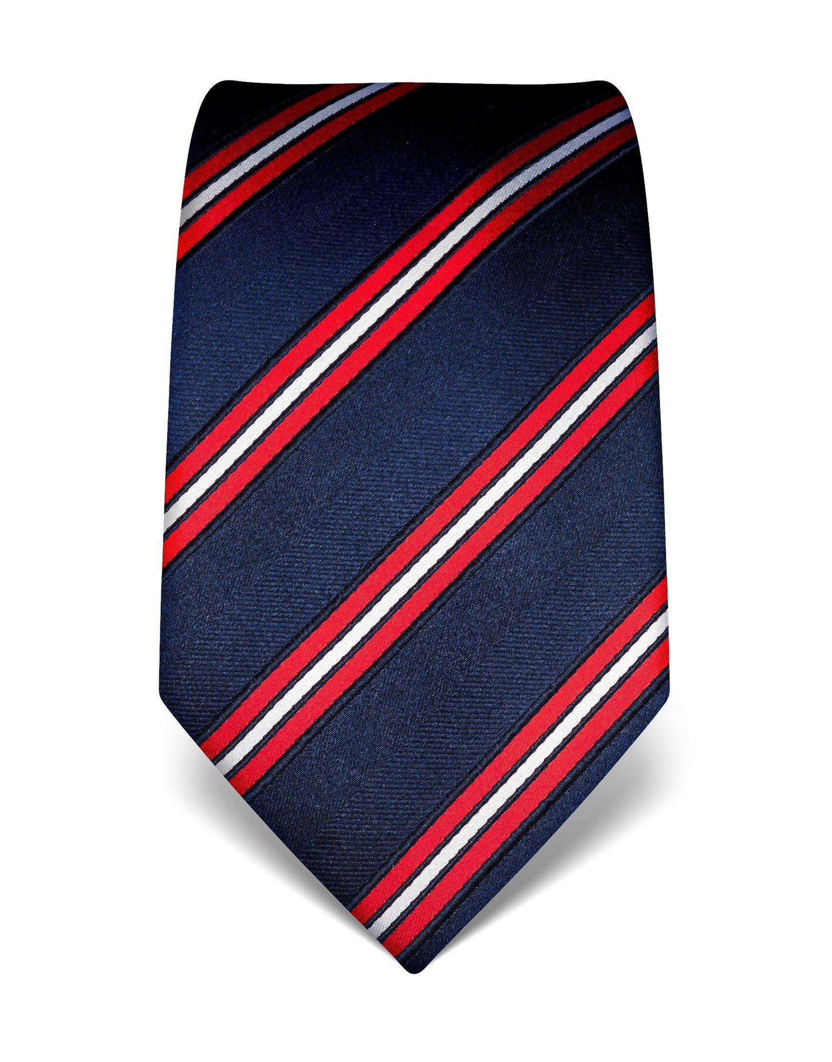 Vincenzo Boretti Krawatte aus reiner Seide mit Streifenmuster