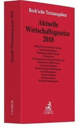 Broschiertes Buch »Aktuelle Wirtschaftsgesetze 2018«