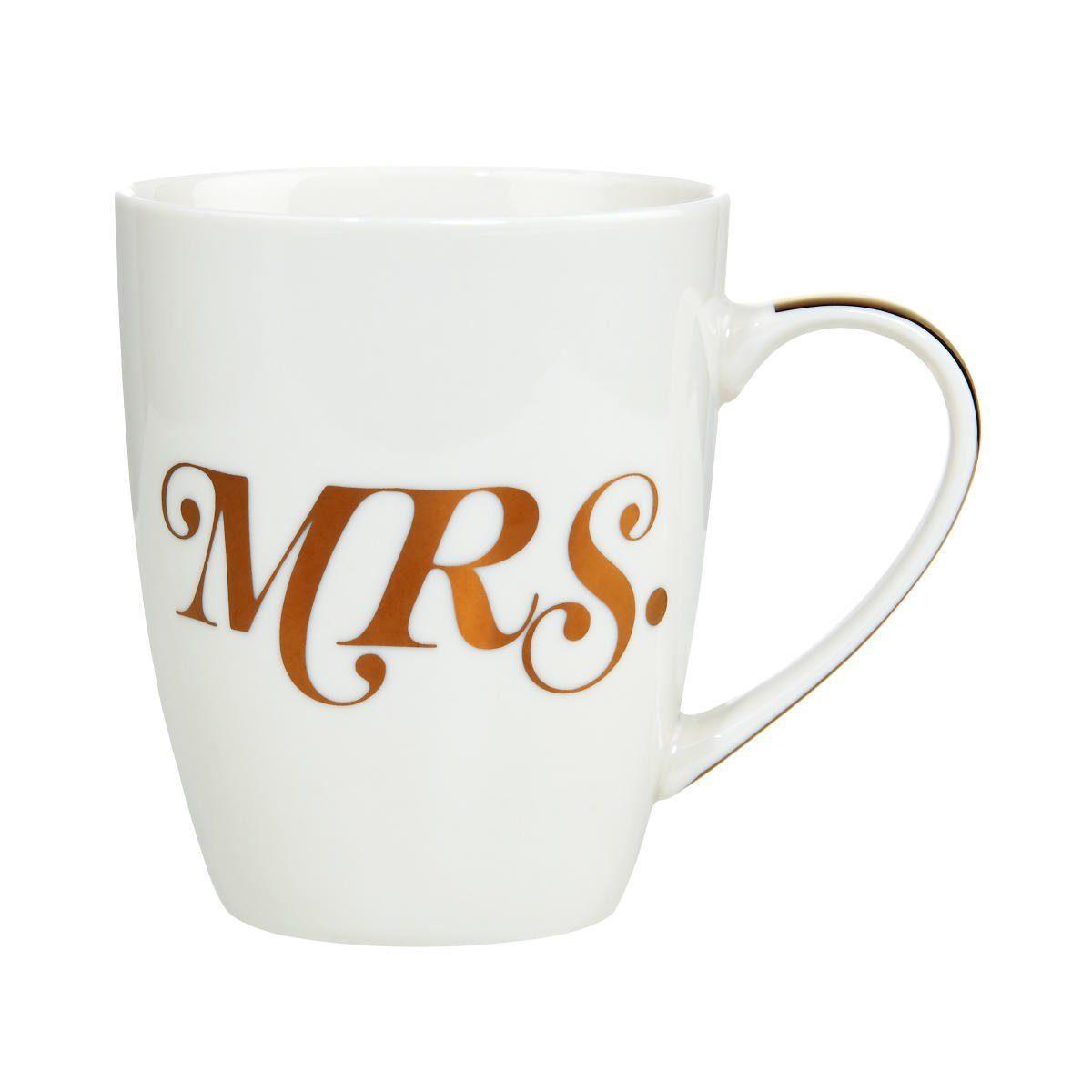 BUTLERS MR.& MRS. »Tasse Mrs. mit goldenem Griff«