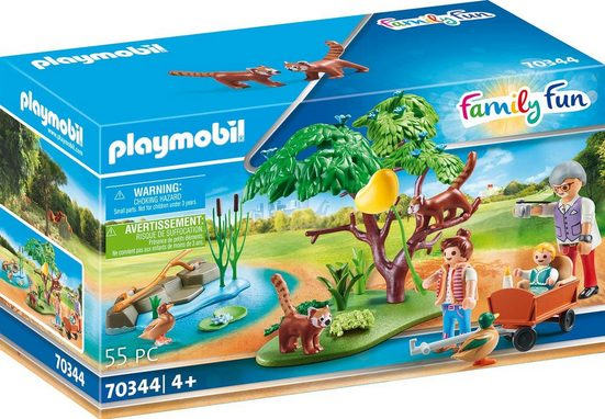 Playmobil® Konstruktions-Spielset »Kleine Pandas im Freigehege (70344), Family Fun«, ; Made in Germany