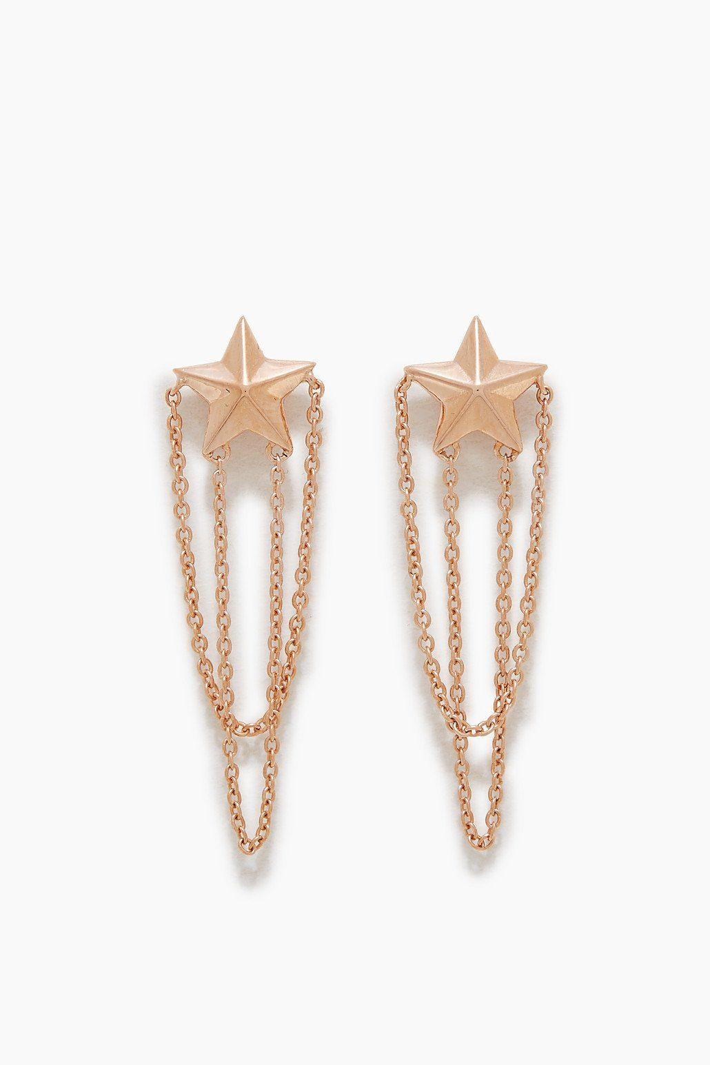 ESPRIT CASUAL Sternförmige Ohrstecker aus Sterling Silber