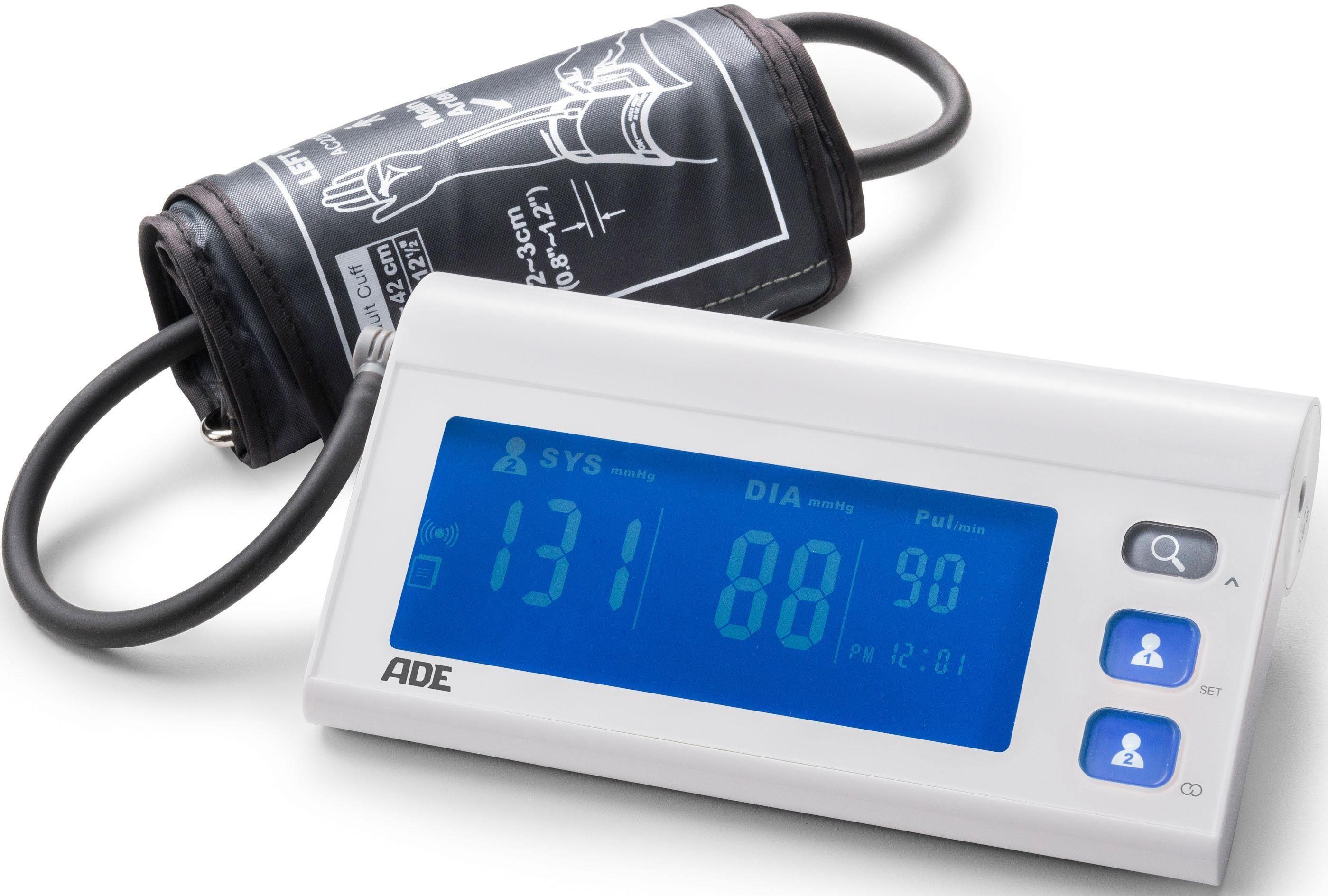 ADE Blutdruckmessgerät BPM 1601 FITvigo, Starkes Duo: Blutdruckmessgerät mit FITvigo App