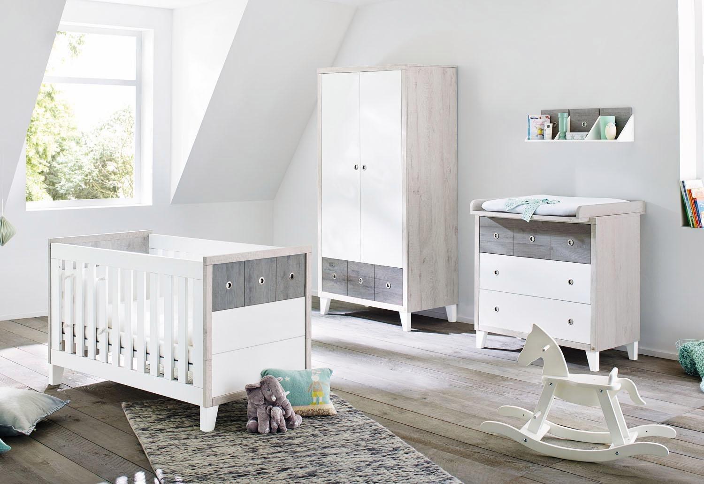 Babyzimmer komplett grau  grau-edelstahl Komplett-Babyzimmer online kaufen | Möbel ...
